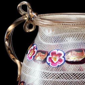 収蔵作品のご紹介:ミルフィオリ・レース双耳瓶