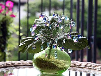 クリスタルガラスのアジサイ