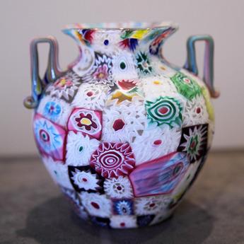 収蔵作品のご紹介:ミルフィオリ・グラス花器