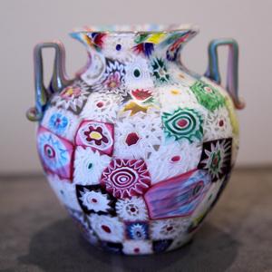 ミルフィオリ・グラス花器