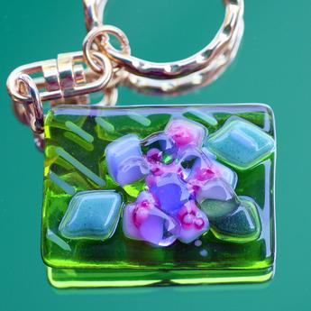 フュージング体験工房:季節限定モチーフ「紫陽花」