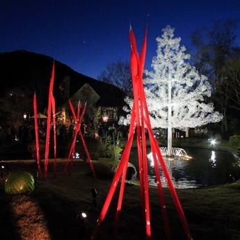 箱根ガラスの森美術館クリスマスディナー
