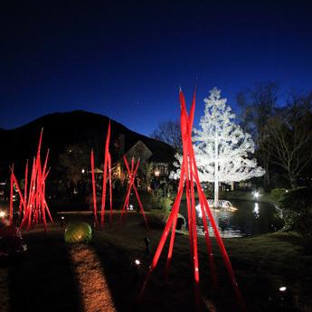 """クリスタル・ガラスのクリスマスツリー""""アベーテ"""""""