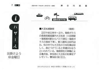 神奈川新聞:大王松感謝祭