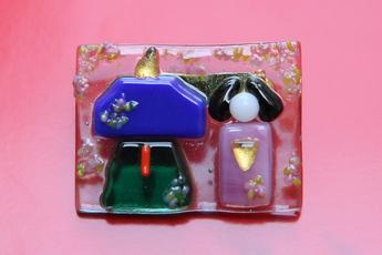 フュージング体験工房 季節限定モチーフ:雛人形