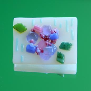 フュージング体験工房:紫陽花モチーフ