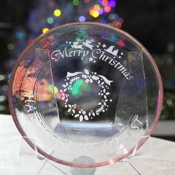 サンドブラスト体験工房:クリスマス・リース