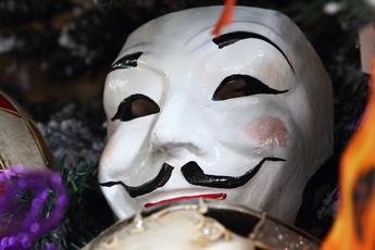 ハロウィンバージョンの仮面