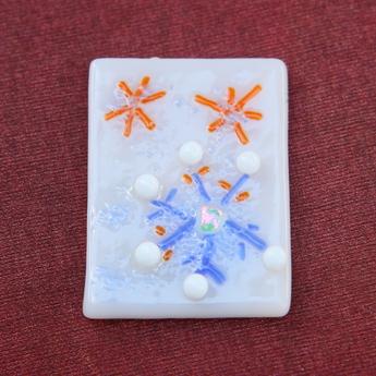 フュージング体験工房:冬季限定モチーフ「雪の結晶」