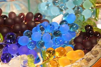 ガラスのブドウ