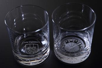 慶應義塾旧図書館大時計ペアグラス