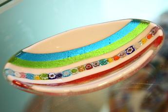 ミルフィオリ・グラス皿