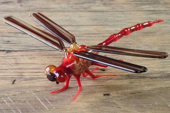 ガラス細工の昆虫 制作実演販売