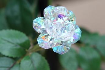 ガラスのバラ