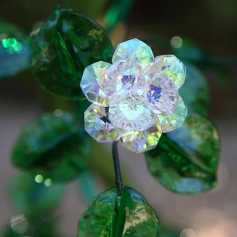 クリスタル・ガラスのバラ