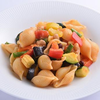 季節野菜のパスタ