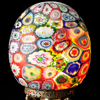 収蔵作品のご紹介:ミルフィオリ・グラス・ランプ