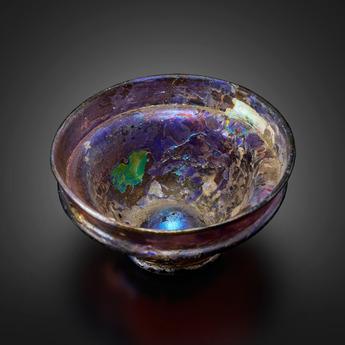 展示作品のご紹介:紫グラス坏