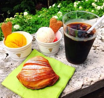 白桃とマンゴーのジェラート