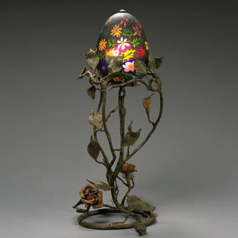 展示作品のご紹介:ミルフィオリ・グラス・ランプ