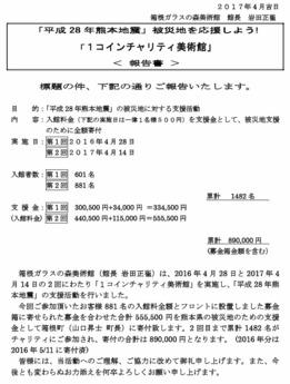 報告書「熊本地震 ワンコインチャリティ美術館」