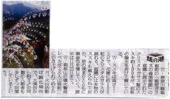 読売新聞:クリスタル・ガラスのススキ