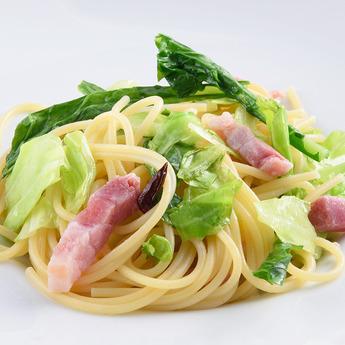 カフェ・レストランおすすめメニュー「菜の花とキャベツのスパゲッティ」
