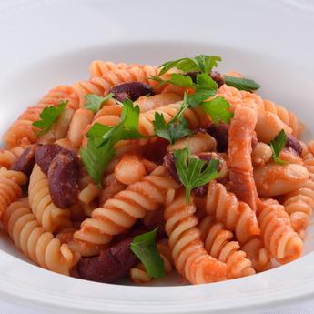 冬のおすすめメニュー「豆のフジッリ」