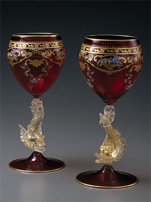 ドルフィン脚ワイングラス