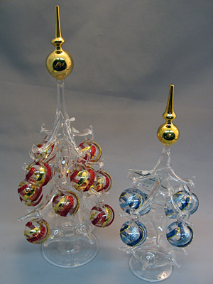 ガラスのクリスマスツリー(ポール型)