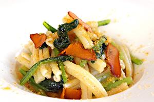箱根産小松菜とカラスミのパスタ