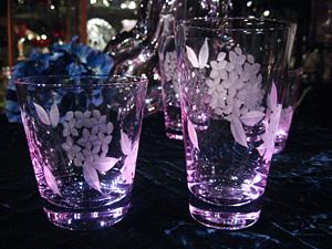 切子紫陽花グラス