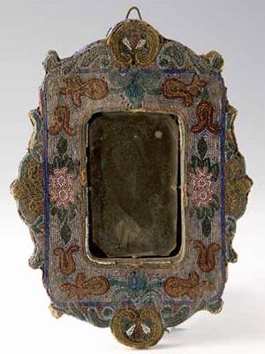 ビーズ装飾 鏡