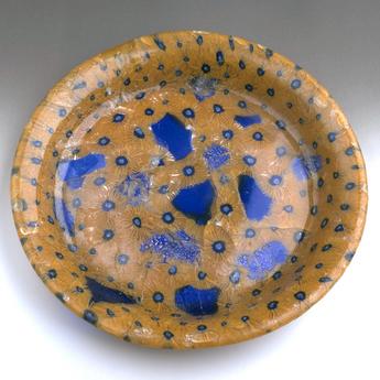 「モザイク美の世界」展示作品のご紹介:ミルフィオリ・グラス皿