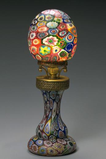 「モザイク美の世界」展示作品のご紹介:ミルフィオリ・グラス・ランプ