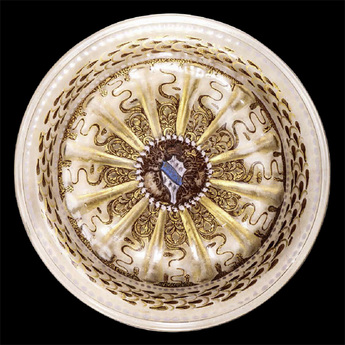 バルバリゴ家紋章文皿
