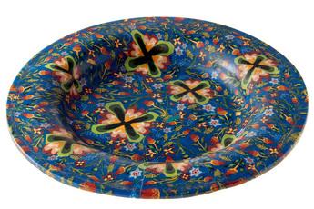 「モザイク美の世界」展示作品のご紹介:モザイク・グラス皿