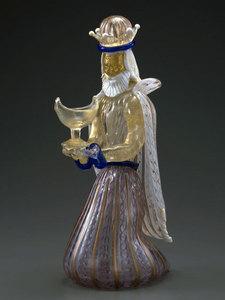 収蔵作品のご紹介 ガラスのプレセピオ「黄金を持った東方の三博士」