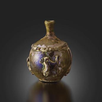 展示作品のご紹介:熔着装飾香油瓶