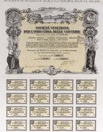ヴェネチア・コンテリエ産業会社(S.V.C)証券