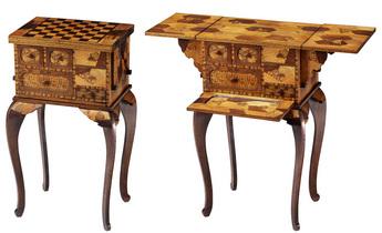 「モザイク美の世界」展示作品のご紹介:チェステーブル
