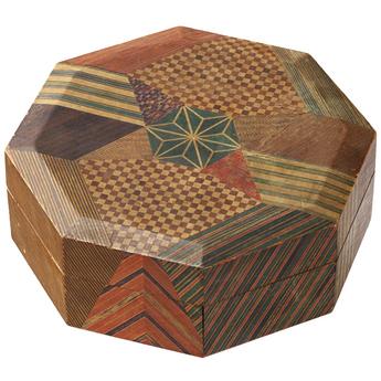 「モザイク美の世界」展示作品のご紹介:八角染木箱