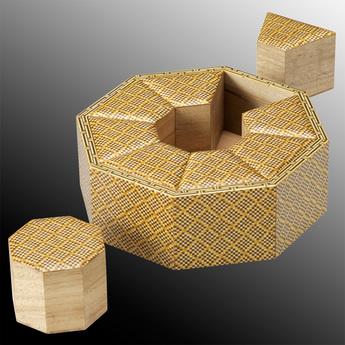 「モザイク美の世界」展示作品のご紹介:八角入子箱