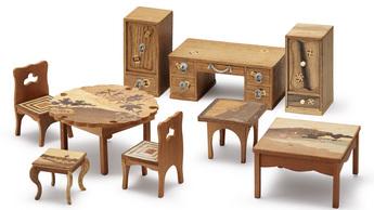 「モザイク美の世界」展示作品のご紹介:ミニチュア・テーブル・セット